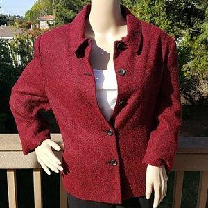 Pretty Karen Scott Burgundy-Red Jacket